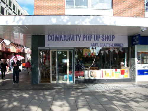 Community Pop Up Shop Outside